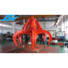 Motor de cuerda simple / electro hidráulico agarre de piel de naranja para residuos de acero y basura (GHE-EHOPG-2300)