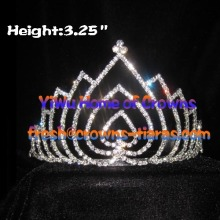 Heart Crystal Rhinestone Crowns and Tiaras