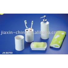 Hotel porcelain 4pcs bathroom set JX-SA702