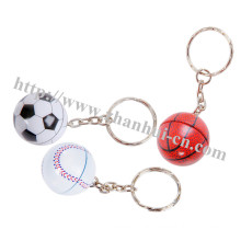 Plastikspielzeug der schäumenden Ball Schlüsselkette