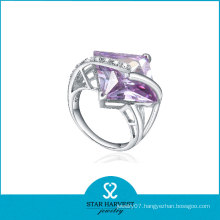 Faceted Square Shaped Lucky Stone Finger Ring