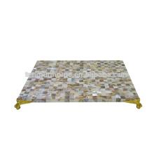 CCP-MPG Tapis de table MOP chinois à eau douce avec coin doré