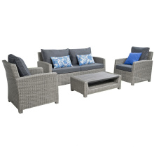 Patio Wicker Lounge Sofa Garten Set Rattan Gartenmöbel