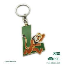 Maßgeschneiderte Metall Brief Tier Logo Emaille Schlüsselanhänger