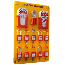 Approve CE anti-slid 8mm lock hole achieve management by multi people lock out tag out stations