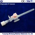 Cápsula intravenosa desechable IV / cateter IV con inyección 20g