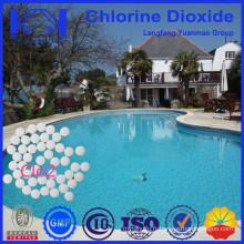 Comprimés à base de dioxyde de chlore désinfectant pour piscines