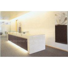 Elegant High Gloss White Color Reception Desk (HF-E405)