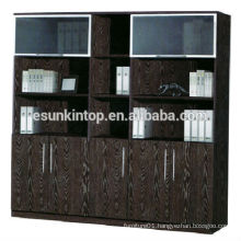 Office used book shelf for sale, Melamine upholstery dark oak color finishing (KB845-2)