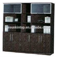 Estante de livros usados para escritório, acabamento de cor de carvalho escuro de estofamento de melamina (KB845-2)