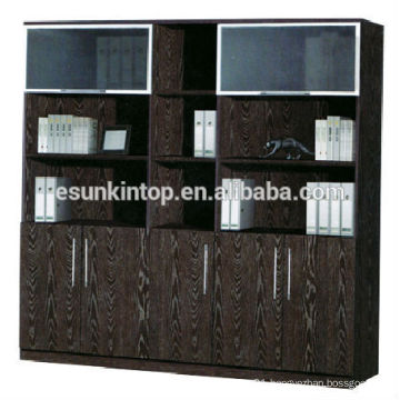 Office used book shelf for sale, Melamine upholstery dark oak color finishing (KB845-2)