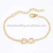 Yiwu top selling attractive elegant 8 shaped infinity copper bracelet women