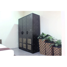 Water Hyacinth and Wooden Cabinet Bedroom Wardrobe