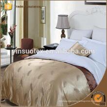 Modernes elegantes weißes 300tc Großhandelshotel-Bett-Blatt-Satz