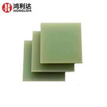 Tablero transparente de fibra de vidrio de color verde