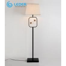 Lámpara de lectura de madera clásica LEDER