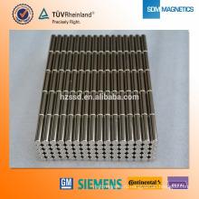 Неодимовый магнитный стержень N35 D2X20mm с никелевым покрытием
