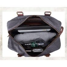 Melhor Qualidade Canvas Couro Viagem Impermeável Duffel Bag