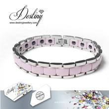 Destino joias cristais de Swarovski cerâmica pulseira