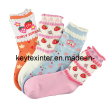 Chaussettes enfants en coton jacquard (KA001)