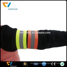 Дешевые пользовательские флуоресцентный зеленый светоотражающие ткани повязки для спорта