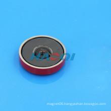 colored encased ceramic ferrite pot
