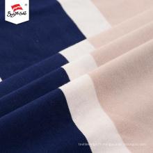 Tissu spandex de robe de rayonne de polyester populaire fait sur commande