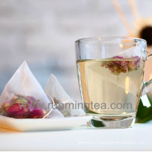 Sacs à thé à base de pyramide en nylon transparents compostables