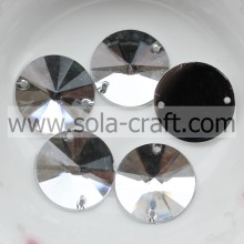 This 18MM Crystal Silver Acrylic Flat Round Sequin Mirror Bead Accessories