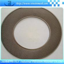 Disco de filtro de acero inoxidable con agujero redondo