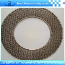 Disque filtrant en acier inoxydable avec trou rond