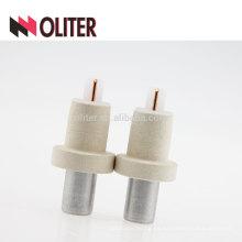 OLITER tungsteno renio desechable inmersión kw sensor de temperatura de termopar prescindible con tapa de escoria de aluminio fabricante