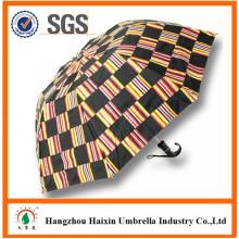 10 Panneau 2 pli grand parapluie pour deux personnes avec poignée courbe