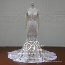 XF16101 el último vestido atractivo del boho del diseño para el vestido nupcial de la sirena de la boda