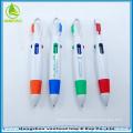 Hot sale customized logo 4 color carabiner pen