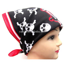 Fashion printed kids head scarf headwear