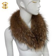 Natural Real Raccoon Fur Collars Femmes Hommes Veste Colliers de fourrure détachables