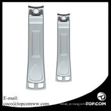 Tosquiadeira de prego feita sob encomenda do manicure do logotipo / nailclipper do dedo