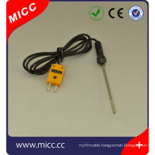 K type ss 316 material 0.5mm diameter thermocouple probe
