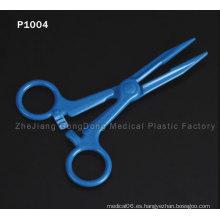 CE y FDA certificado azul tijeras de titanio capa de pelo