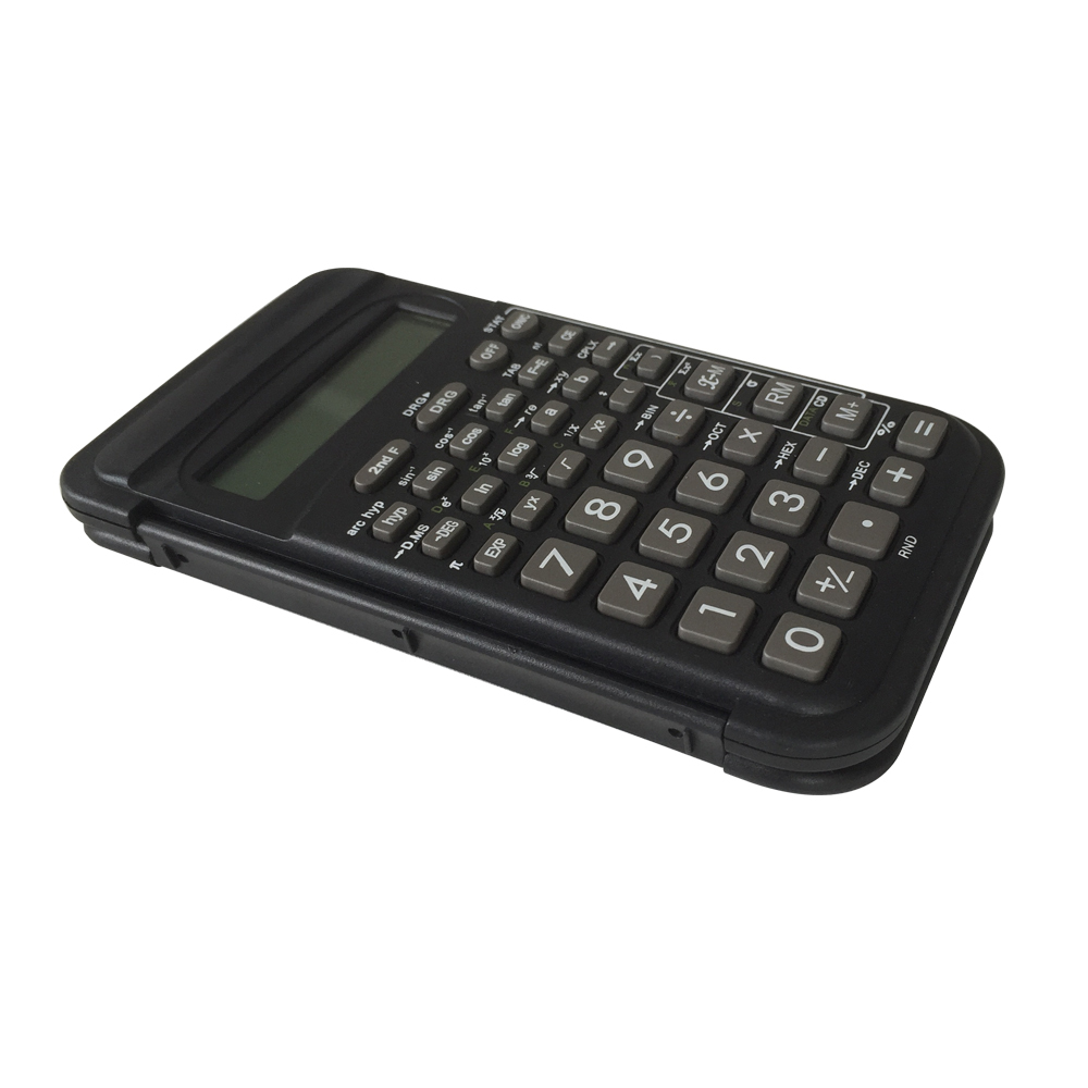 Calculatrice scientifique Pocket Scientific de 10 chiffres avec couverture Flip