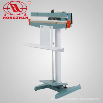Manuelle Fuß Pedal Abdichtung Maschine direkter Hitze Sealer für Taschen und Filme mit Drucker und Heizung Blcoks