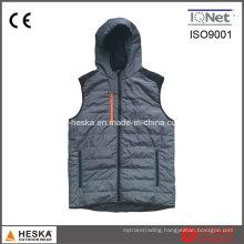 Men Light Price Padded Vest Outwear Warning Waistcoat