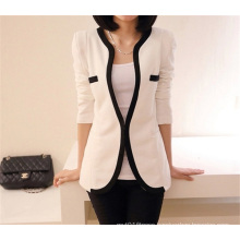 Korean Style Fashion Slim Fitting Black White Women One Button Suit Coat
