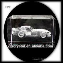 K9 3D Laser Subsurface Car Inside Crystal Rectangle