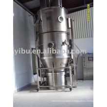Fluidizing granulating machine