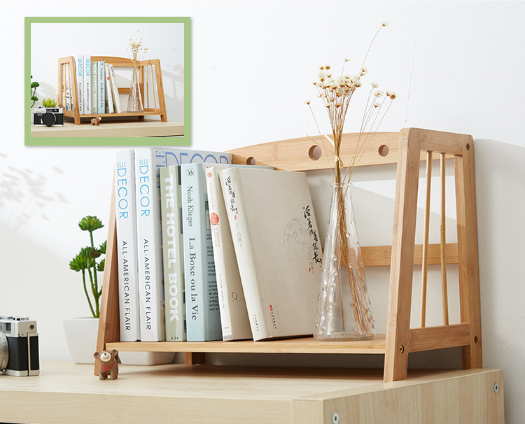 Chinese Style Bamboo Book Tabletop Holder