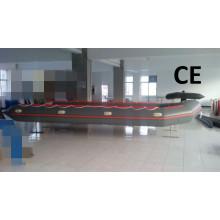 Certificado del CE 8m gran barco inflable con piso de aluminio