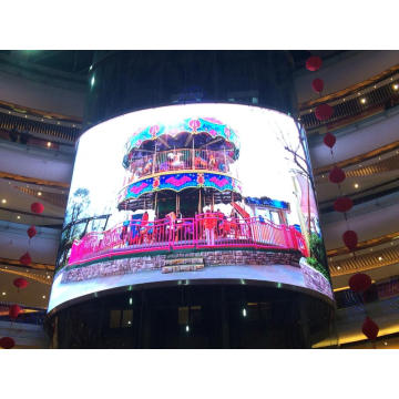 Display a LED curvo per centro commerciale