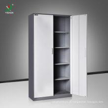 armário de prateleira ajustável do metal de duas portas para o armazenamento do arquivamento do escritório